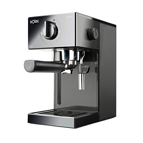 Cafetera espresso, 20 bar, Double Cream, Espresso y Cappuccino, 1050 W, Portafiltros 1 ó 2 cafés, Monodosis/molido