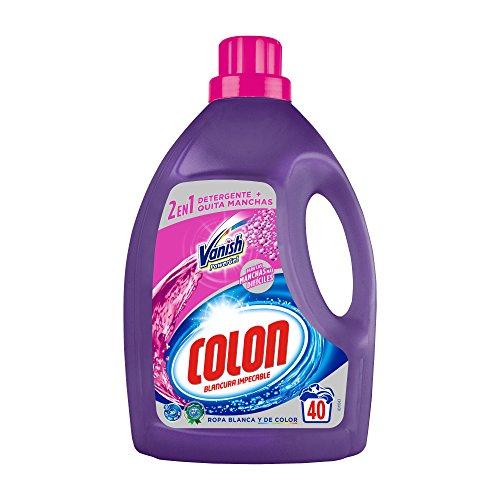 Colon Vanish Powergel - Detergente para lavadora con quitamanchas, adecuado para ropa blanca y de color, formato gel - 40 dosis