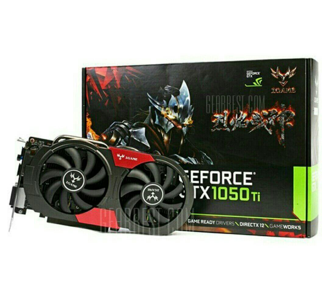 Tarjeta gráfica iGame 1050Ti Gaming Video NVIDIA GeForce 7000MHz 128bit 4G DDR5 6Pin