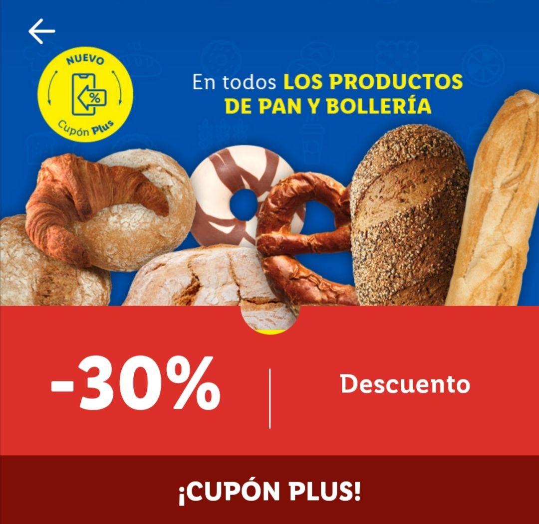 30% dto. BOLLERÍA y PANADERÍA LIDL Plus