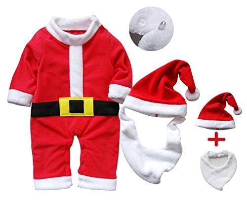 Disfraz de Papa Noel para niños de 1 a 3 años (Producto Plus)