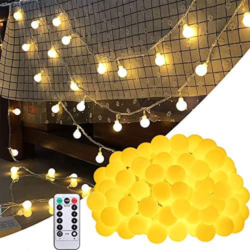 Bolas de luces en cadena 10 metros 8 Modos 100LED