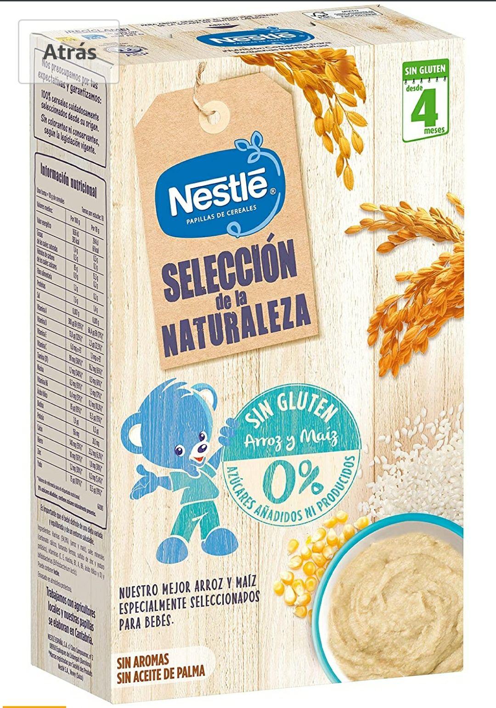 Nestlé Selección De La Naturaleza Papilla Sin Gluten, A Partir De Los 4 Meses- Pack de 6 estuches 330 g