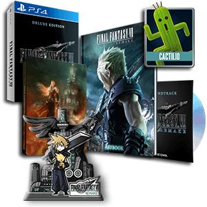 Final Fantasy VII Remake (Deluxe Edition) + Figura acrílica + Póster + Tema Dinámico Tifa
