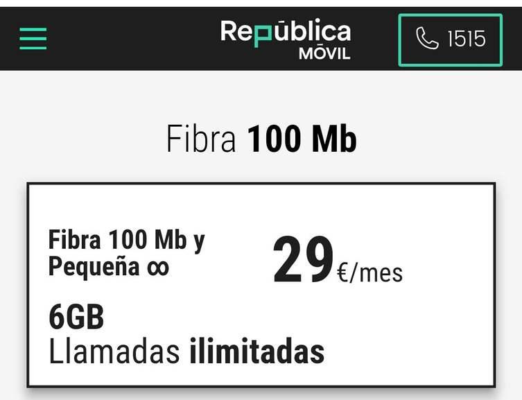100 MB Fibra + 6G de datos + Llamadas ilimitadas + Línea adicional sin límites (Cobertura Orange)