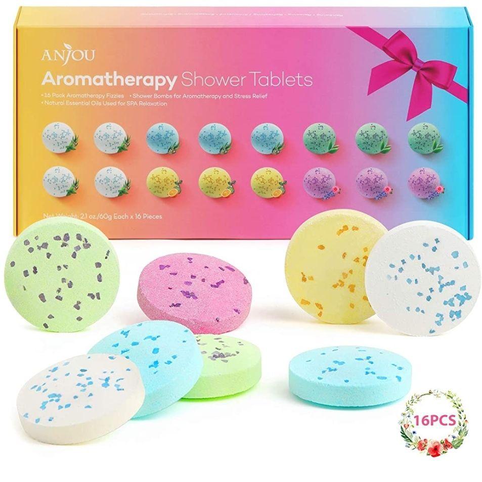 Tabletas De Ducha Para Aromaterapia Con Aceites Esenciales Puros,16 Tabletas Efervescente(Spa En Casa)