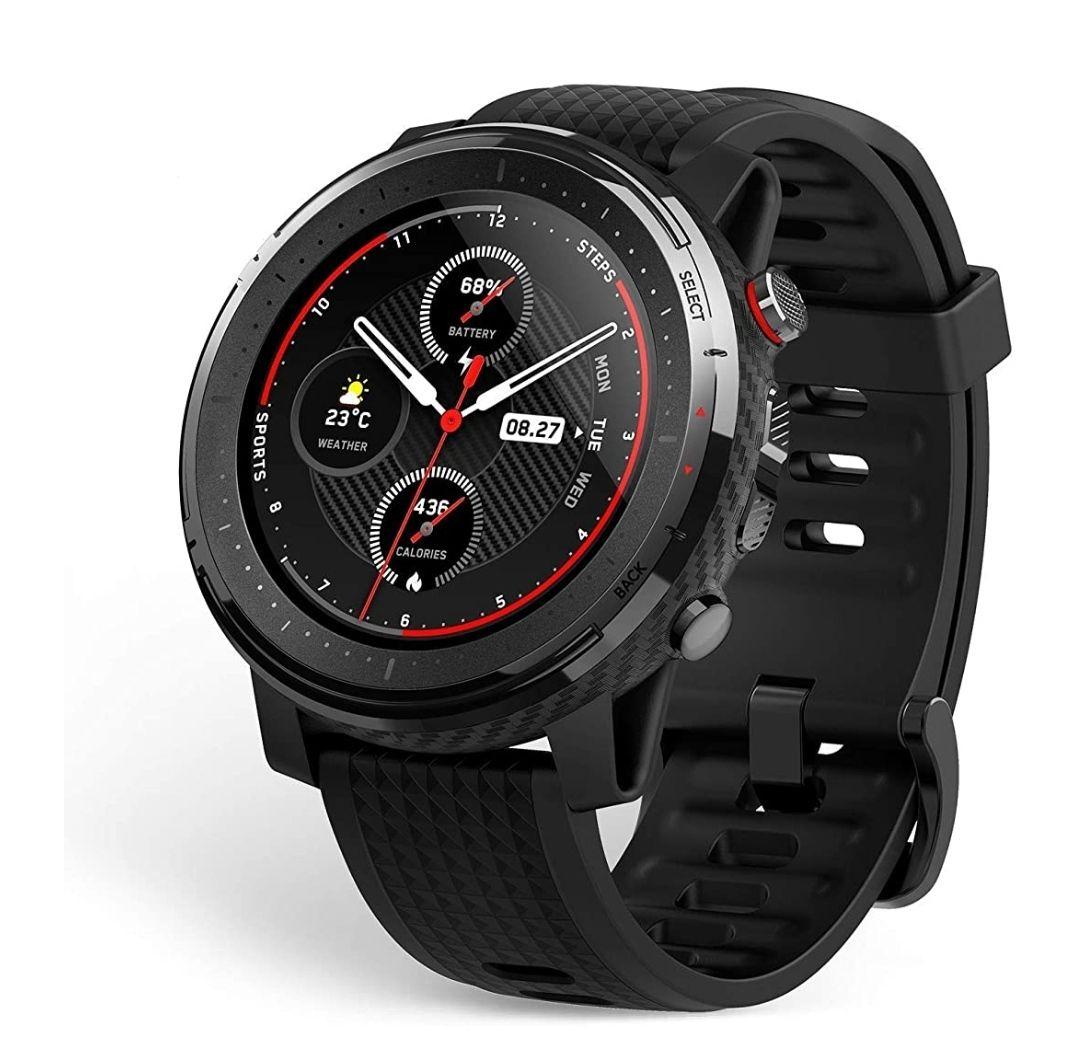 Amazfit Stratos 3 Smartwatch Reloj Inteligente 19 modos deporte Activitiy Tracker GPS controla musica.Negro