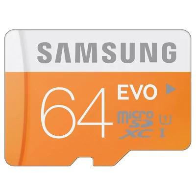 Original Samsung 64GB EVO Categoría 10 Micro SDXC Tarjeta de Memoria  -  64GB  Naranja
