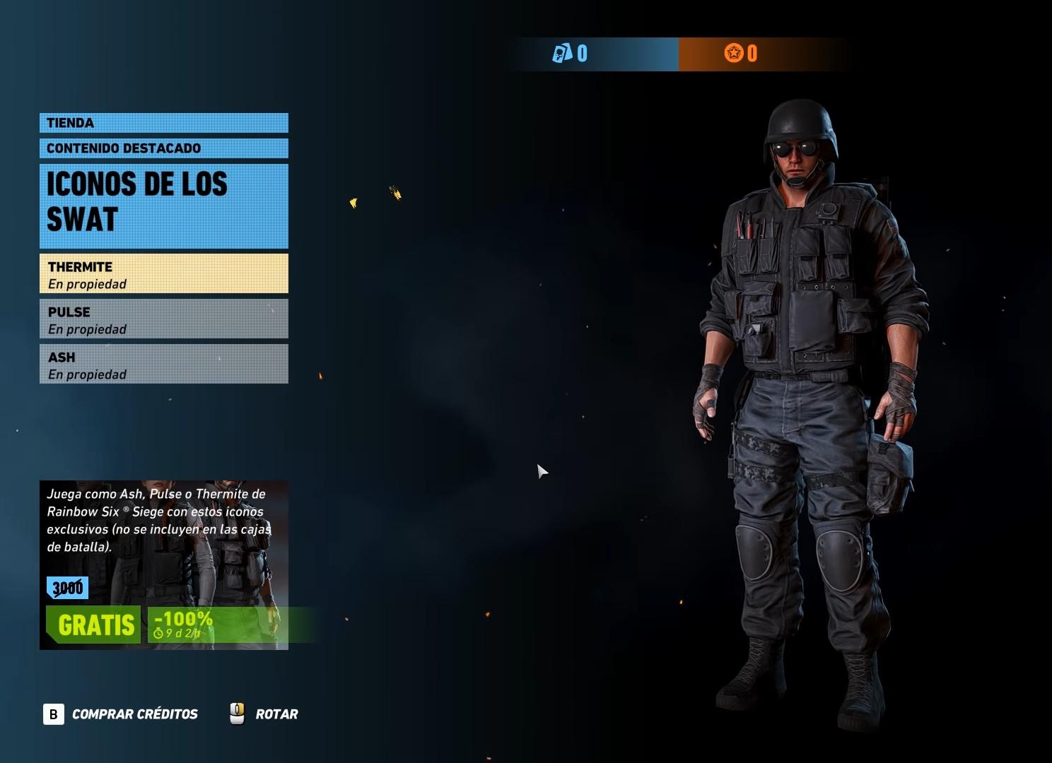 DLC gratuito ghost recon wildlands apariencias de agentes Rainbow six Siege