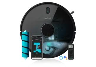 Robot aspirador - Cecotec Conga 5490, 10.000 Pa, Friega, Aspira y Barre, 570 ml, 240 min, 64 dB, Negro