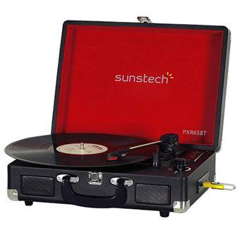 Tocadiscos Bluetooth Sunstech PXR6SBT Negro