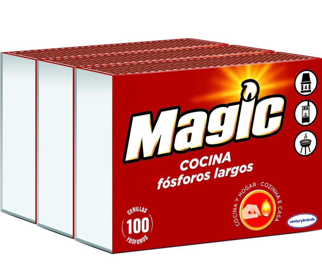 Pack 3 cajas cerillas de cocina Magic