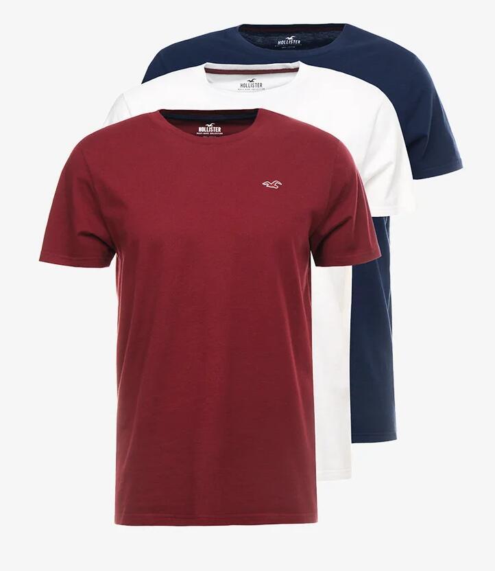 3 camisetas Hollister 22€
