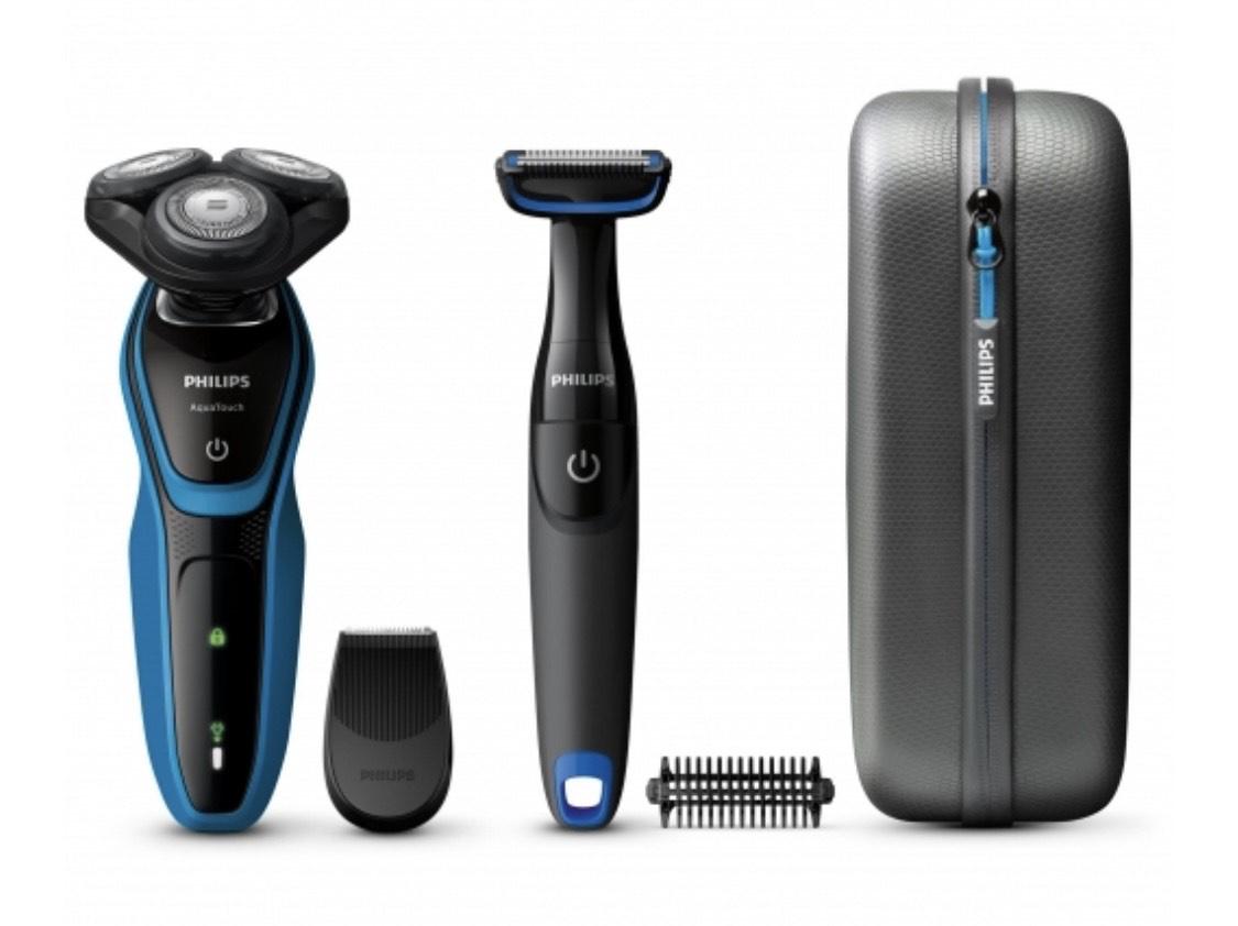 Afeitadora Philips S5050/64 Aquatouch + Bodygroom + Estuche de viaje