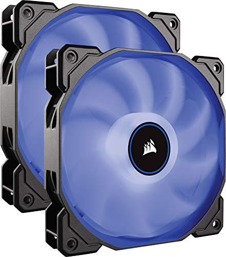 (2 pack) ventiladores de refrigeración LED de bajo ruido de 140 mm, color azul