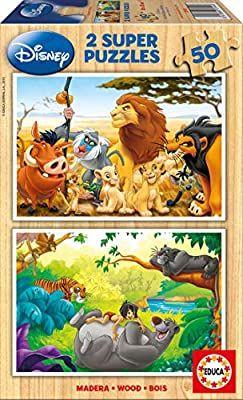 Rey Leon y El Libro de la Selva 2 Puzzles, a partir de 4 años
