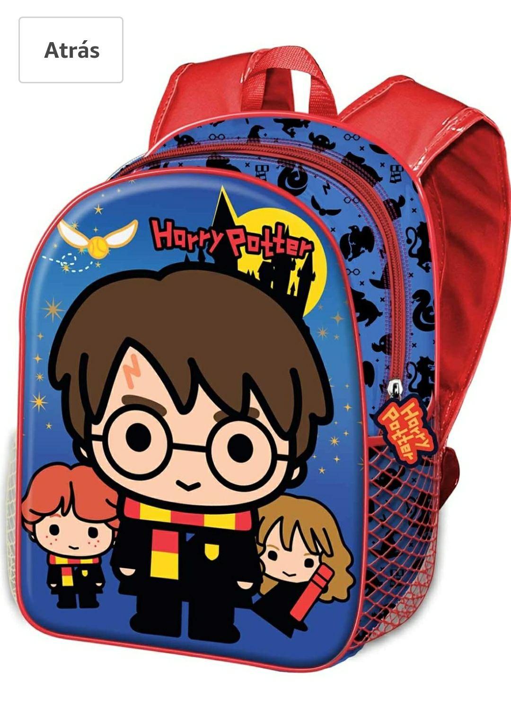Mochila preescolar con relieve frontal Harry Potter