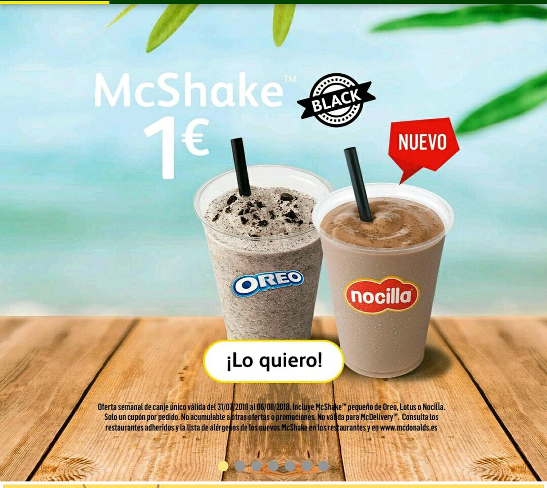 McShake Oreo O Nocilla a 1€