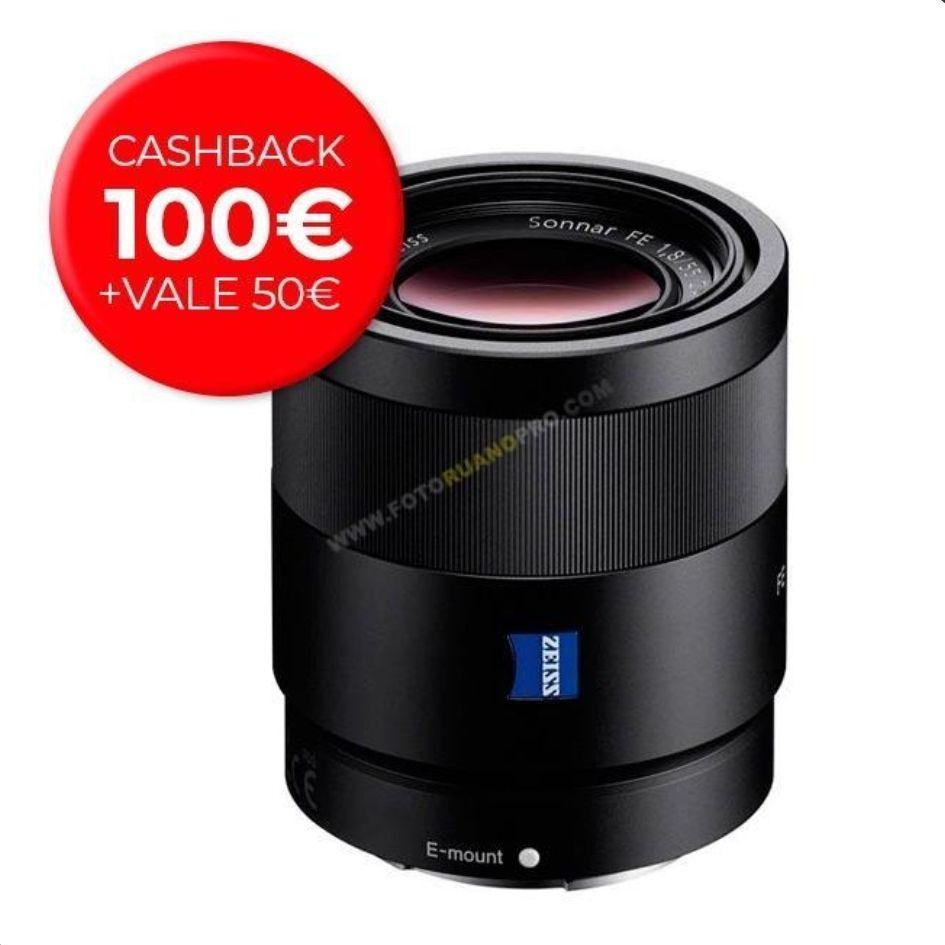 Sony Zeiss 55mm F1.8 Con cashback de 100€ + 50€ en fotoruanopro