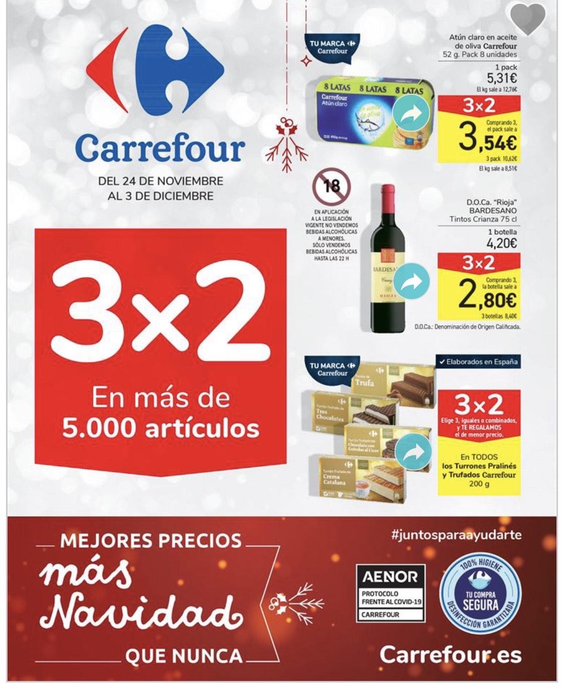 Promoción 3x2 Carrefour. El Chequeahorro lo tenéis disponible a partir del 26 de noviembre.