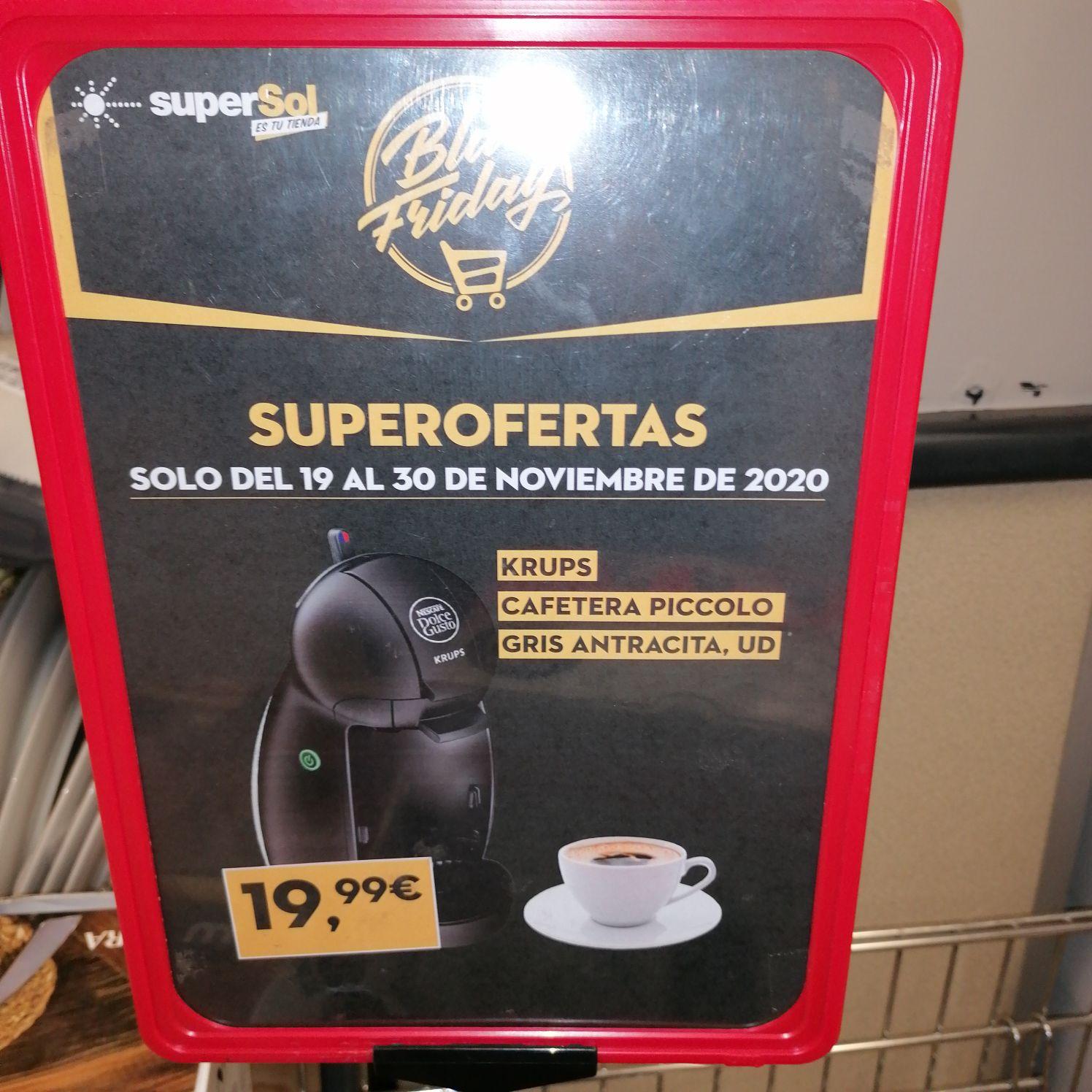 Cafetera Krups dolce gusto por 19,99€ en Supersol