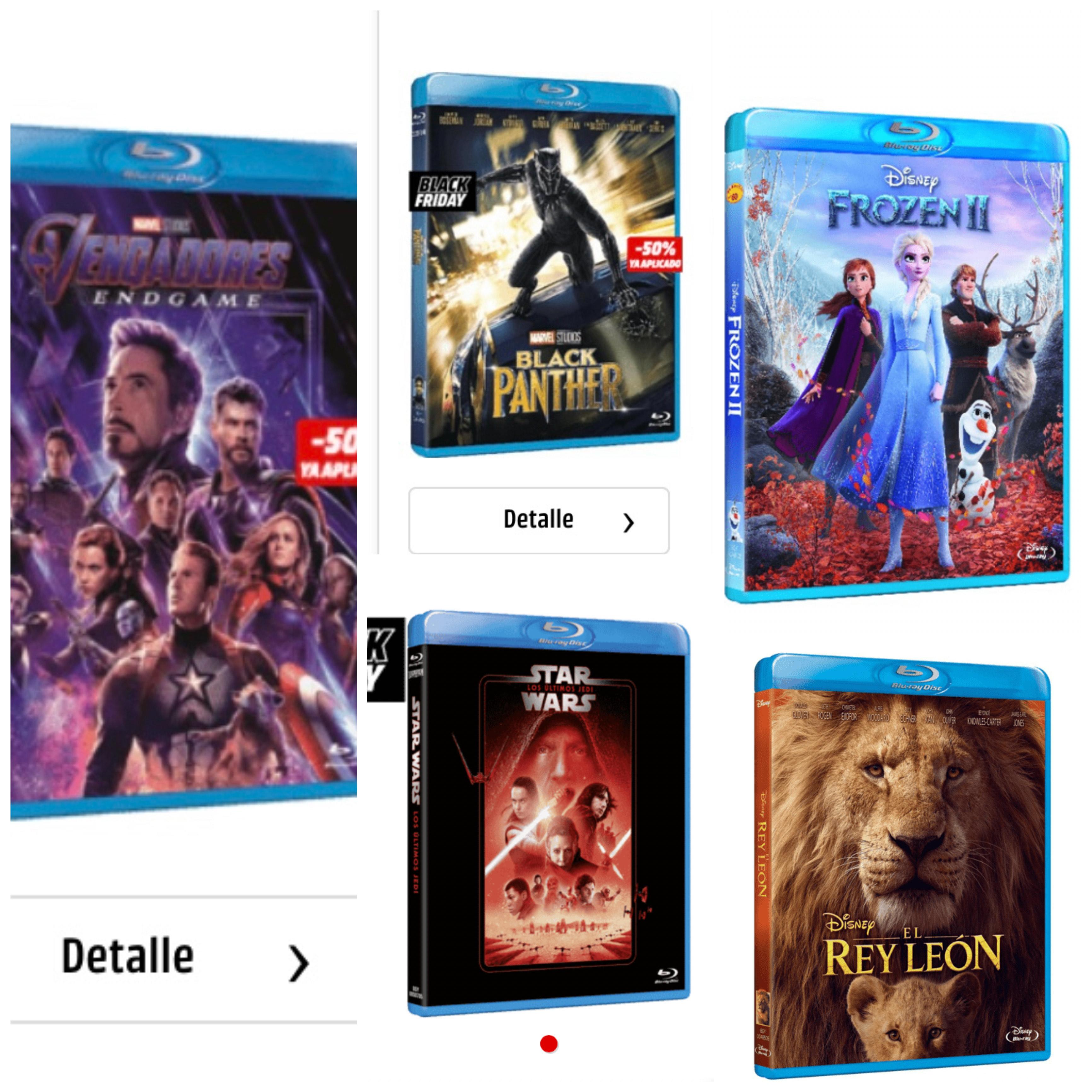 Colección Peliculas Disney Blu-Ray (incluidos vengadores, star wars etc)