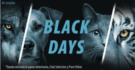 Black days en zooplus - descuentos en piensos, comida húmeda y otros artículos para mascotas