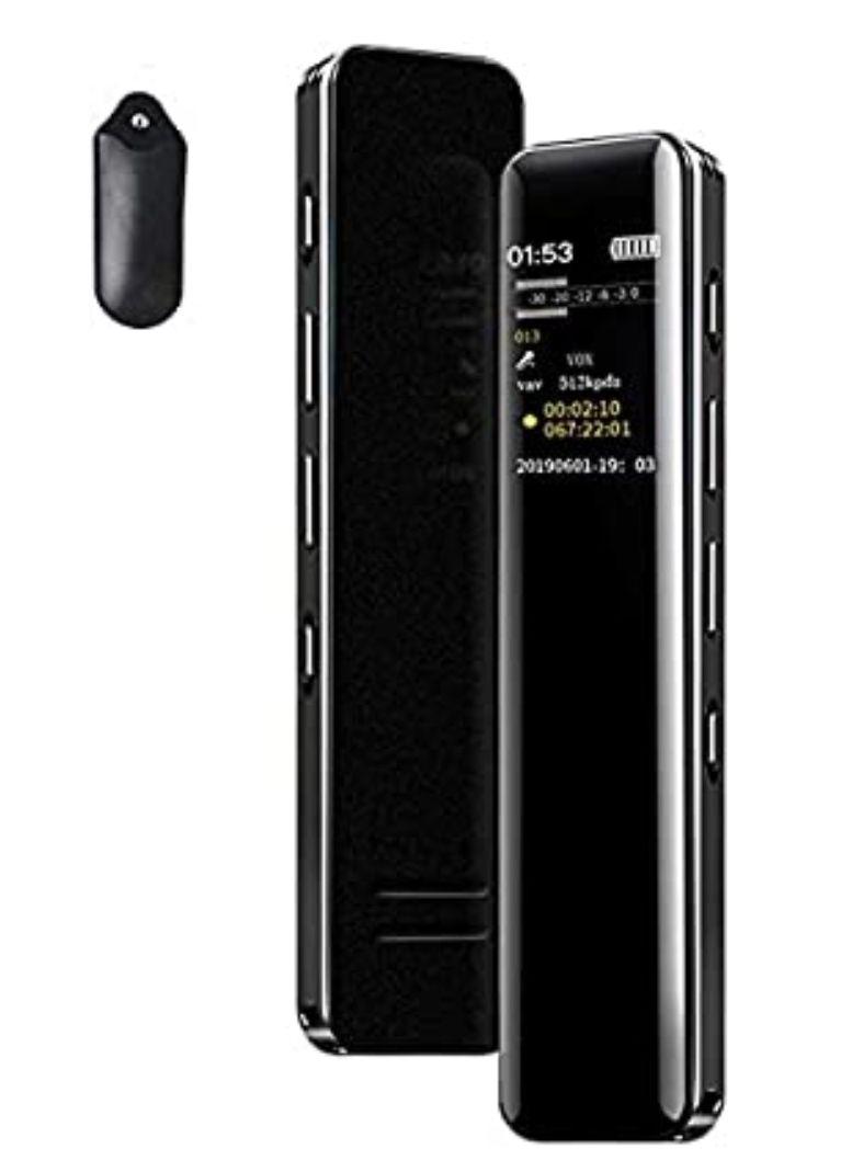 Grabadora de Voz Digital Portátil,Reproductor MP3, Micrófono Incorporado 16GB