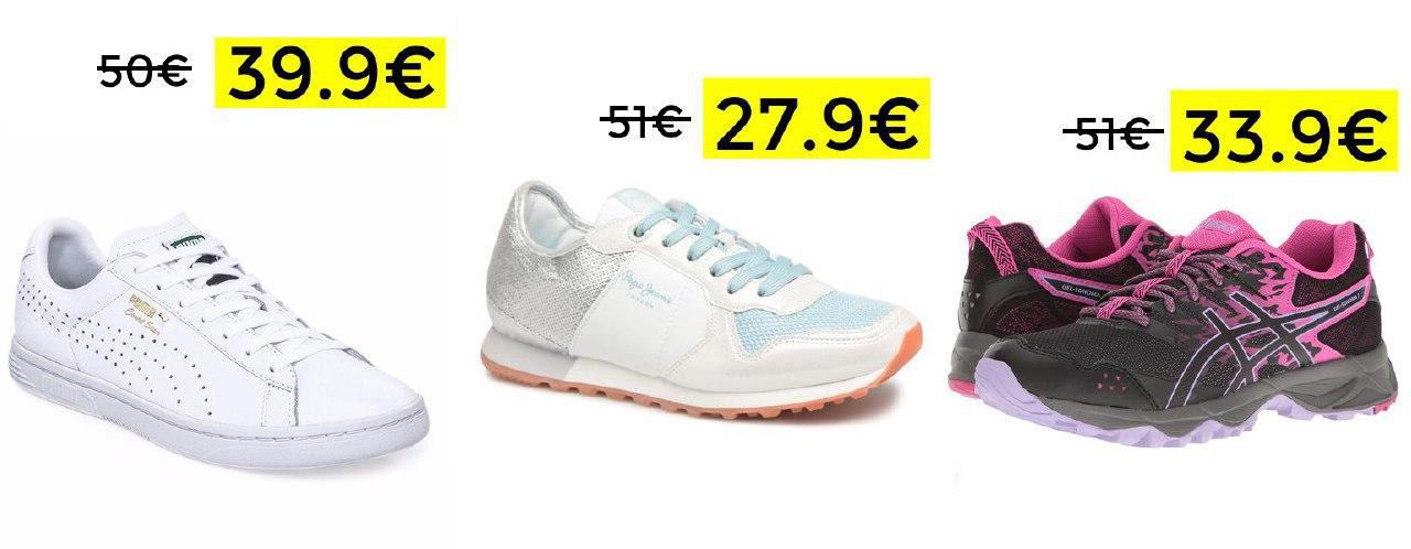 Descuentos en zapatillas(Ej: Puma Court Star 39.9€)