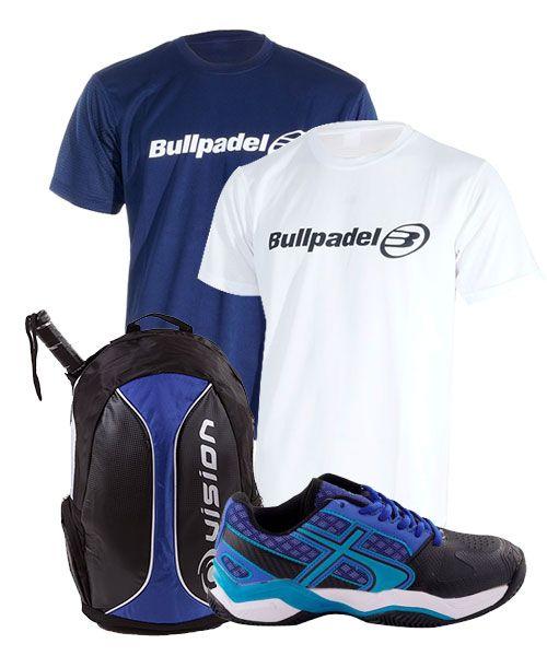 Pack de Padel con zapatillas, camisetas y mochila