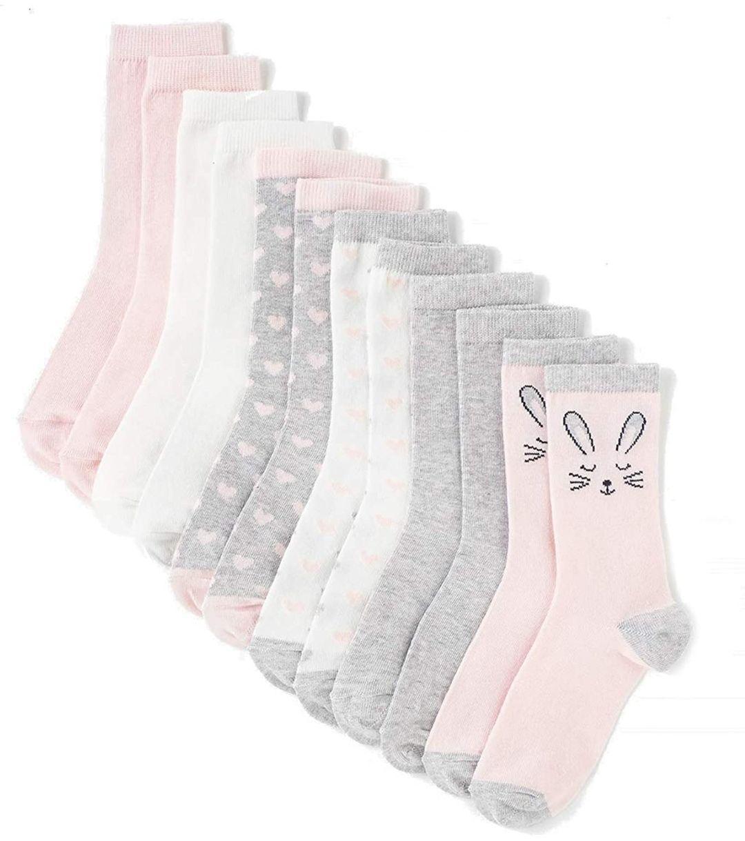 Calcetines,niñ@,unisex)6 pares de Calcetines Estampados/Lisos Unisex(100%diseño España)