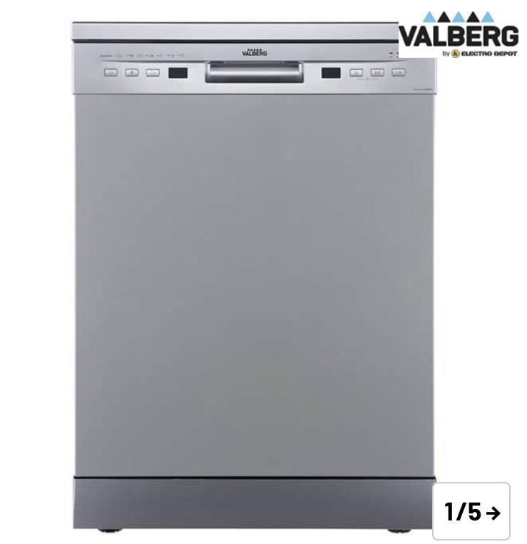 Lavavajillas 60cm VALBERG 12 servicios 12S47 A+++ / 7 programas