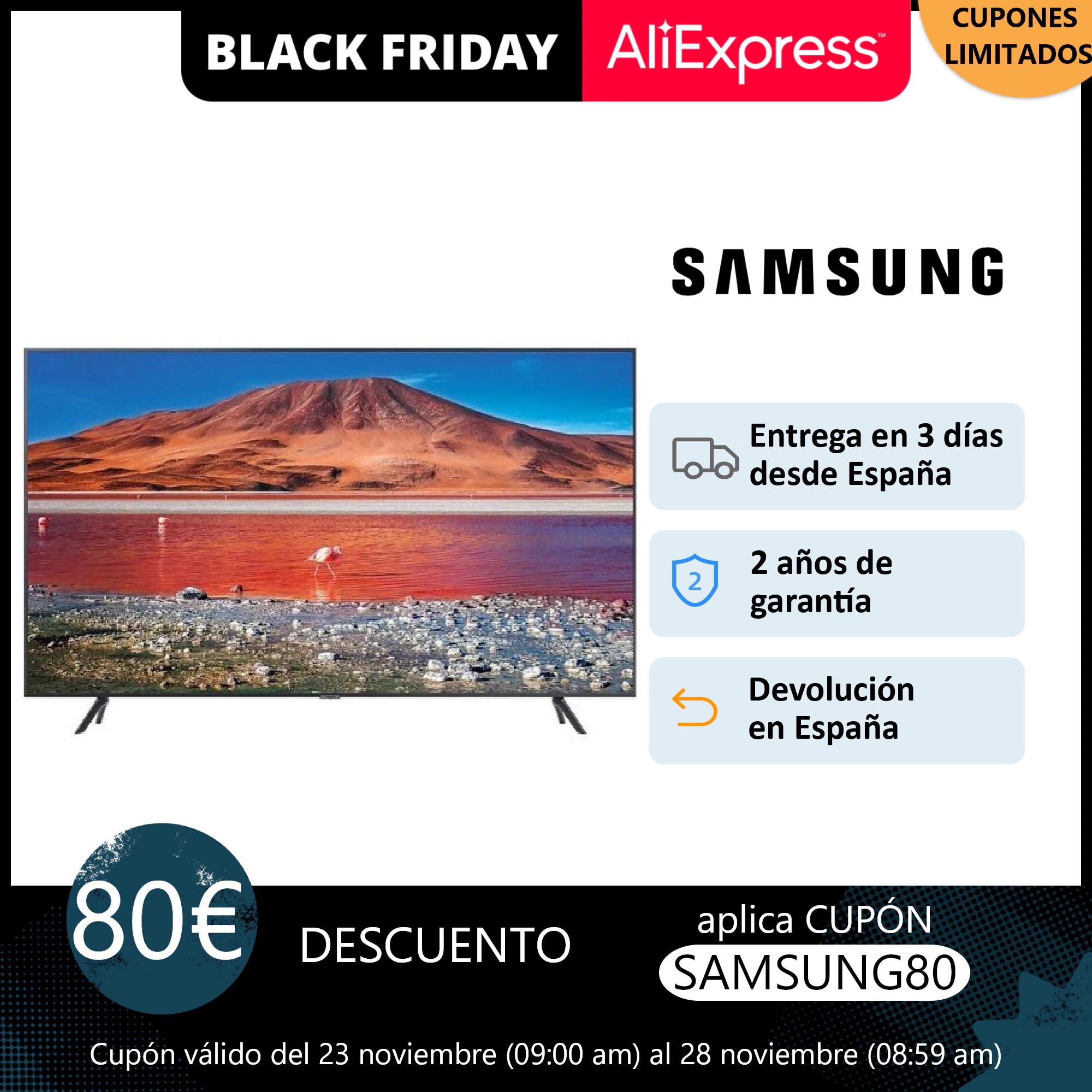 """Samsung 4K 43/50/55/65"""" 249/299/359/559€ - Desde España"""