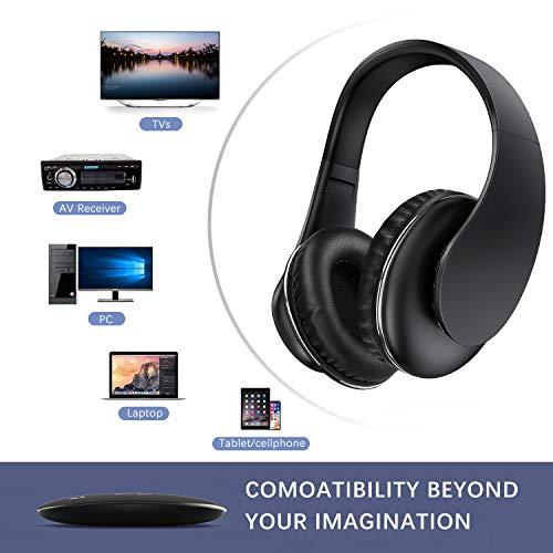 Jelly Comb Auriculares inalámbricos ópticos, Auriculares Recargables con transmisor para TV/PC/Radio/Teléfono/Tableta, conexión de 3 vías