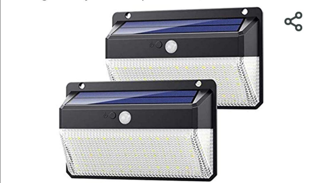 Yacikos Luz Solar Exterior 108 LED, [270°Super Brillante-2200mAh] Foco Solar Exterior con Sensor de Movimiento,