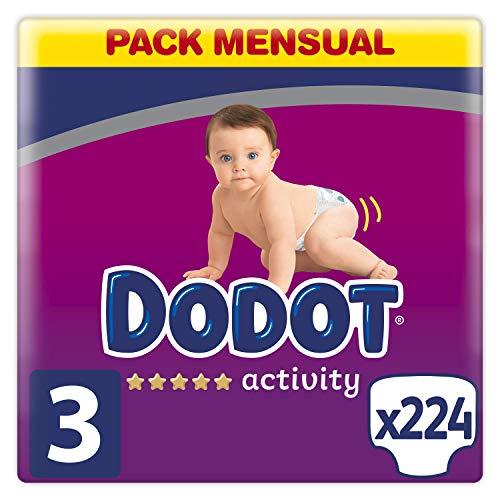 Dodot Activity 224 pañales talla 3 compra recurrente 0,17€/u