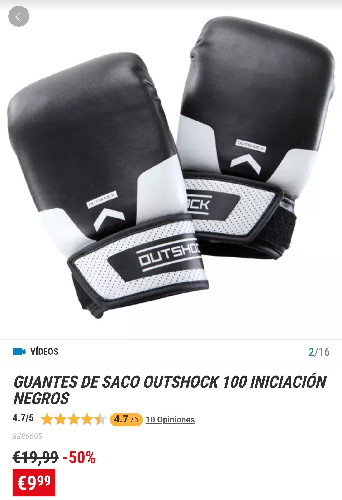 GUANTES DE SACO OUTSHOCK 100 INICIACIÓN NEGROS