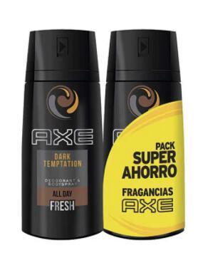 Pack 2 Axe dark temptation (a 1.88€/unidad, más packs al mismo precio en la descripción)