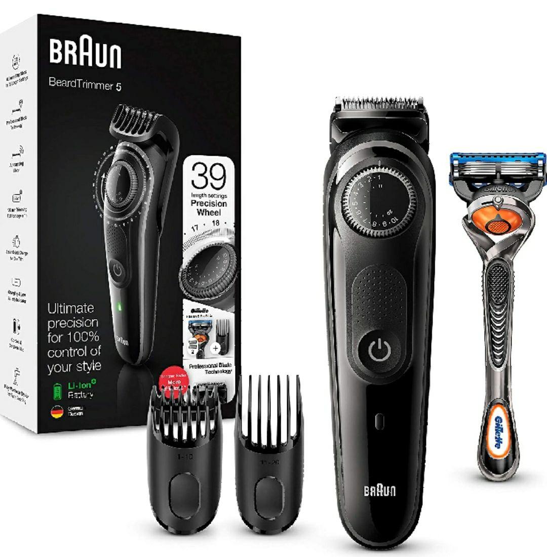 Braun Recortadora de Barba BT5242, Máquina Cortar Pelo, Recortadora de Barba y Cortapelos para Hombre