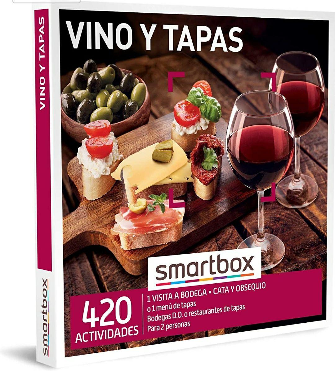 Smartbox - Caja Regalo Amor para Parejas - Vino y Tapas - Ideas - 1 Visita a Bodega con cata y obsequio o 1 menú de Tapas para 2 Personas