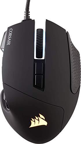 Corsair Scimitar Elite RGB Óptico MOBA/MMO Ratón para Juegos, 18.000 PPP Óptico Sensor, 17 Botones Programables, Retroiluminación RGB