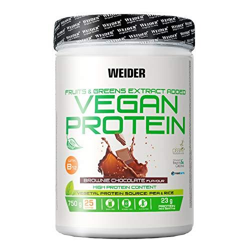 Weider Vegan Protein, Sabor Chocolate, Proteína 100% vegetal de guisantes (PISANE) y arroz