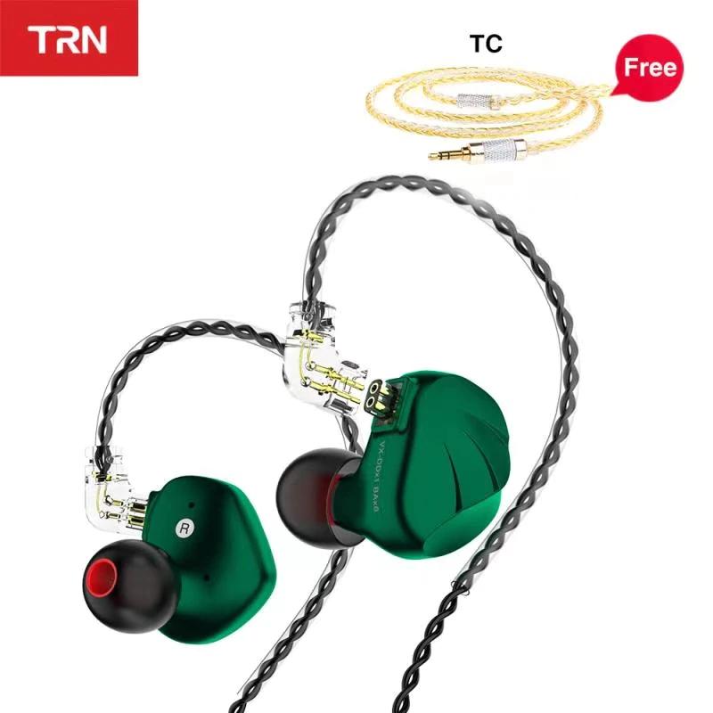 Auriculares híbridos TRN VX (1dd+6ba) + adaptador bluetooth TWS + cable actualización