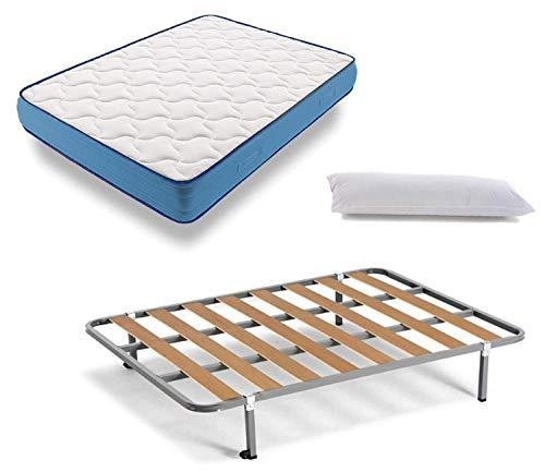 Somier + colchón 90x200cm + almohada de regalo