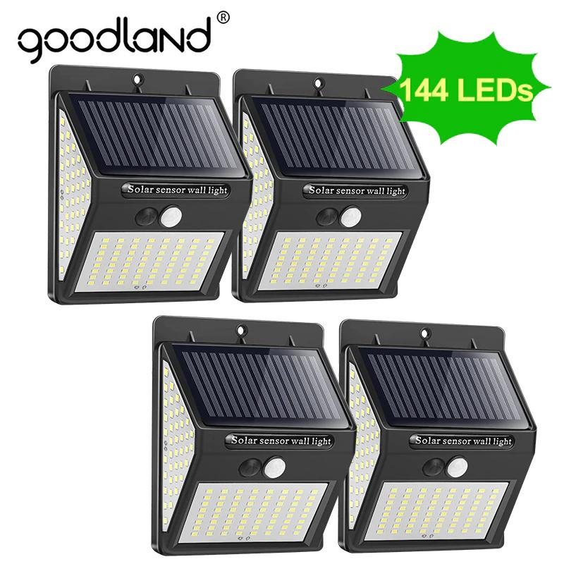 Pack de 4 Focos de luz LED solar con sensor de movimiento e impermeable desde España