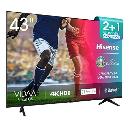 Hisense 43AE7000F UHD TV 2020 - Smart TV Resolución 4K con Alexa integrada