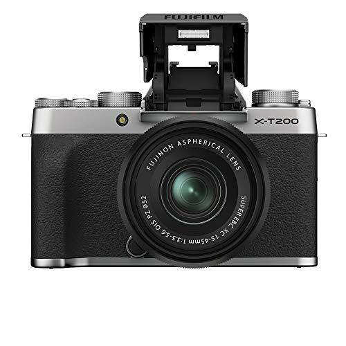 Fujifilm X-T200 color plata con objetivo intercambiable XC15-45/3.5-5.6 PZ