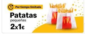 Dos de patatas a 1€ ( Ideal para acompañar Big Mac a 1€)