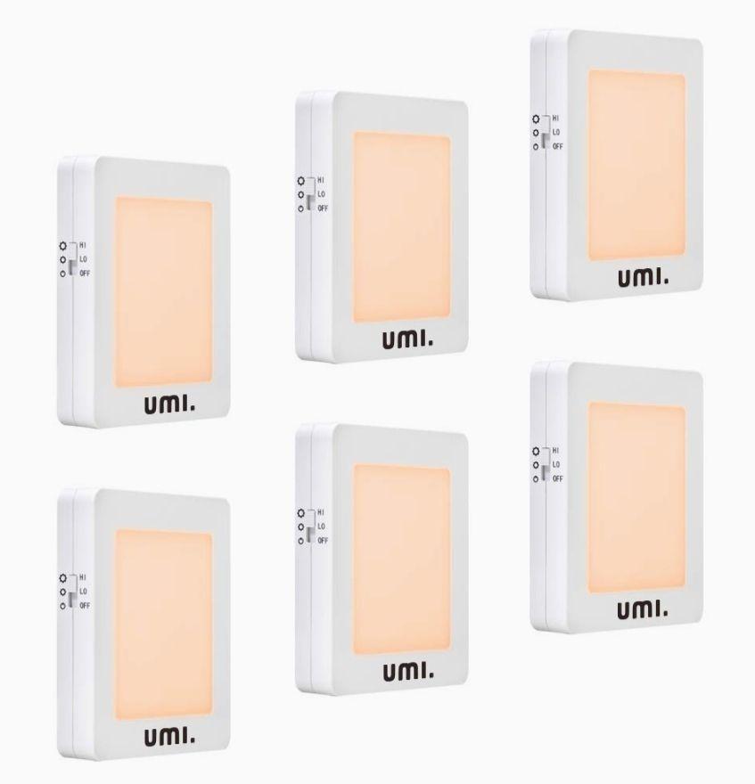 Luz nocturna con sensor de oscuridad automático y brillo regulable (6 unidades)