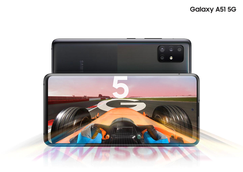 "Samsung Galaxy A51 5G - Smartphone 6.5"" Super AMOLED (6GB RAM, 128GB ROM), Negro"